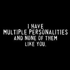 Multiple Personalities Funny T-Shirt All Sizes & Colors