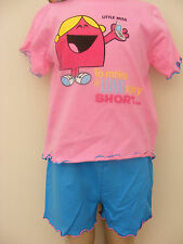 Girls Mr Men Little Miss Chatterbox Pyjamas Age 2-3 Years NEW