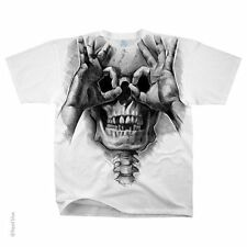 NEW Fantasy Skull Peek a Boo Biker Gothic Skeleton Rock T Shirt M L XL 2X
