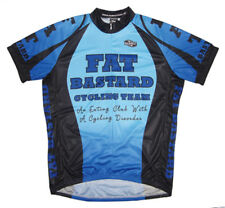 Fat Bastard Cycling Team Jersey Men's Short Sleeve Blue with DeFeet Socks