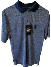Beverly Hills Polo Club Men's Performance Wear Polo Shirt Boating Navy SS NWT