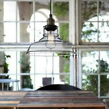 NEW Clear Glass Ceiling Vintage Retro Chandelier Fitting LED Pendant Lamp Light