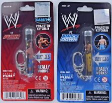 WWE Raw Smackdown Wrestling LIGHT UP Projector Keychain Keyring Mysterio Carlito