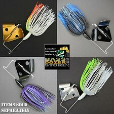 RAPPER bass fishing buzz baits. Free KVD trailer hook! FREE buzzbait trailers!
