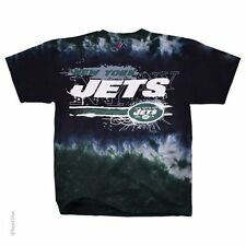 New NFL NY New York Jets Tie Dye Horizontal Stencil Team Football T-Shirt