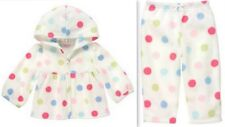 Gymboree BABY CAKES Fleece Polka Dot Outfit Hoodie Jacket & Pants 12-18 mo NWT