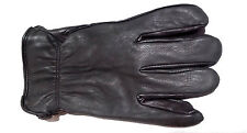Men's Deerskin Luxury Winter Driving Glove Black Lined 40 Gram Thinsulate