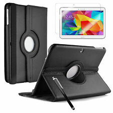 FOR SAMSUNG GALAXY TAB A / E / 3 / 4 SMART 360 ROTATING LEATHER STAND CASE COVER