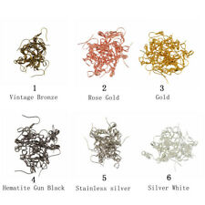 20pcs Brass French Ear wire Earring Bail Hook Pinch Jewelry DIY Mixed Colors