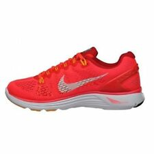 New Nike Women Lunarglide + 5  athletic Shoes Crimson/White/Red 599395-601**