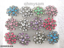 12 NEW ADJUST METAL MIX / VINTAGE STYLE RINGS /CLEAR MULTI COLOR STONE MIX DES