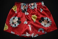 Boy's red Mickey Mouse Satin Boxer Shorts, size 3, 4, 5, - handmade