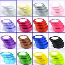 Quality 25 Yards/23 Metres Solid Color Satin Ribbon Widths 6/10/15/20/25/38mm