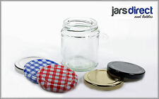 30 x 190ml (Approx 8oz) GLASS JARS FOR JAMS PRESERVES CHUTNEY & HONEY