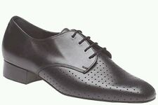 Dance Steps by Freed of London - Davis, Black Perforated Leather Mens Ballroom