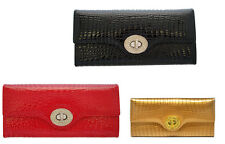 Brand New Ladies Leather Wallet with Faux Reptile Texture /Gift Box