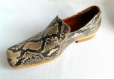 MENS DRESS SHOES GENUINE PYTHON SNAKE SKIN LEATHER LOAFERS SLIP ON Sz available