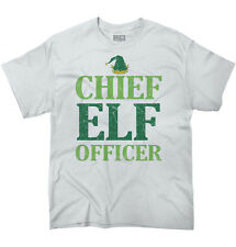 Chief Elf Officer Christmas Funny Shirts Ugly Gift Ideas Cool T-Shirt Tee