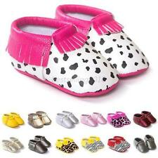 Baby Toddler Leather Shoes Boy Girl Infant Moccasin Soft Sole Crib Shoes 0-18M