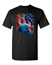 American Bald Eagle & Flag T-SHIRT ALL SIZES & COLORS (4022)
