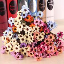 2 Bunches Artificial Daisy Simulation Fake Flowers Plant For Home Garden Decor