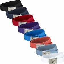 Callaway 2018 Webbed Commodity Chev Logo Cotton Funky Mens Golf Belt - One Size