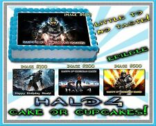 Halo 4 cake topper Edible sugar Paper Birthday decal sticker picture image ideas