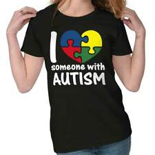 I Love Someone With Autism Shirt Cute Autism Awareness Unisex Ladies T-Shirt