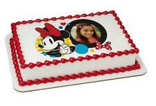 Minnie Mouse edible image your photo custom frosting cake topper icing #8277