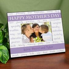 Personalized Happy Mothers Day Picture Frame Moms Virtues  Printed Photo Frame