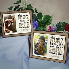 Personalized Dog Breed Frame The More People I Meet I Love My Dog Photo Frame