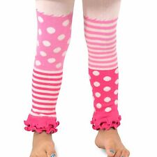 Naartjie Girls Stripes with Dots Legging with Ruffle Bottom, Pink NWT