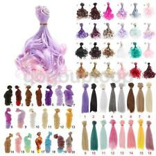 3 Types Doll Wig Hair for 1/3 1/4 1/6 BJD SD Barbie Dolls DIY Making Accessories