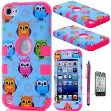 FOR iPod Touch 5th 6 Gen Shockproof Hybrid Impact Hard & Soft Case Cover Shell