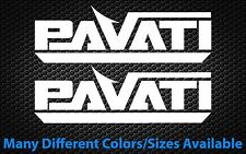 (2x) PAVATI Wakeboard Wakesurf Boat Die Cut Decals For Cars Boats Trailers...