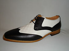Antonio Cerrelli 6656 Mens Black & White Fashion Spectator Oxford Dress Shoes