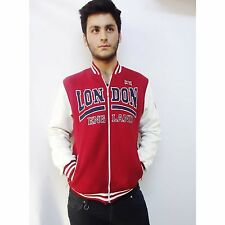 Union Jack Hoodie, MEN BOYS, Sweatshirt, Sweater, London Souvenirs,College, Red