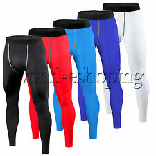 Men's Compression Base Layer Fitness Pants Tight Under Skins Sports Gear Bottoms