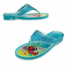 Disney Store Little Mermaid Princess Ariel Girls Jelly Sandals Size 9/10 11/12