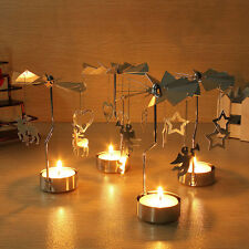 Xmas Gift Spinning Rotary Carousel Tea Light Candle Holder Stand Light Holder