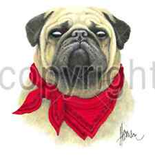 Pug Dog With Red Bandana T-Shirt Tee All Sizes And Colors (239)