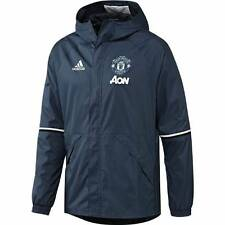 adidas Manchester United Training All Weather Jacket 2016/17- Blue - Mens