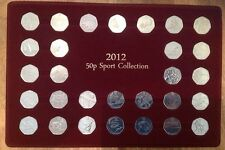 full set 2012 50p fifty pence sport collection olympic coins presentation tray