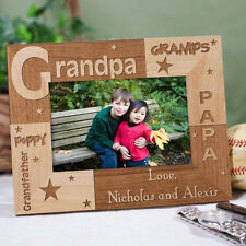 Personalized Grandfather Picture Frame All About Grandpa Engraved  Photo Frame