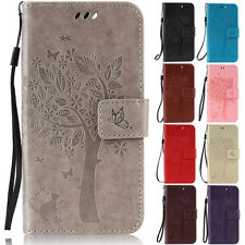 Cat Tree Wallet Leather Skin Flip Case Cover For Huawei Honor 5C 4X V8 7i 8 P8 9