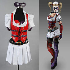 Batman Arkham Asylum City Harley Quinn Dress Cosplay Costumes Halloween Party