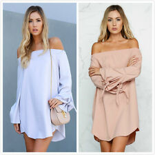 Fashion Sexy summer Dress Off Shoulder Women Sexy Casual Beach Summer Dress 2016