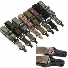 Airsoft Tactical Sling QD 1/2 One/Two Point MS3 Mission Rifle Bungee Strap #GY