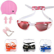 Children Non-Fog UV Protect Swim Glasses Swimming Goggles Cup Nose Clip Ear Plug