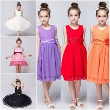 Flower Kid Girl Princess Dress Party Pageant Wedding Bridesmaid Tutu Dress 2-13T